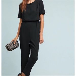 Anthropologie Cartonnier Black Allegory Jumpsuit